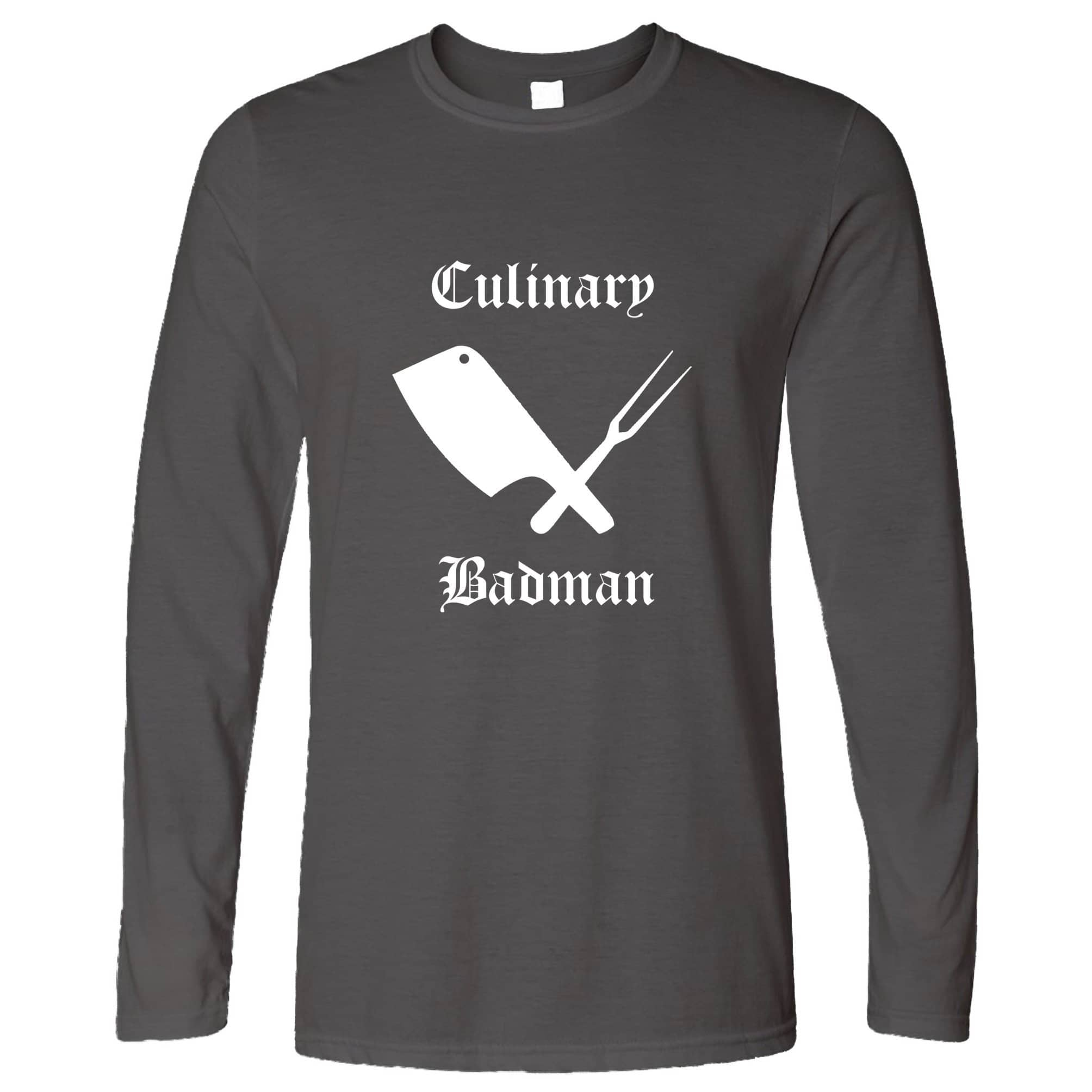 Cooking Long Sleeve Culinary Badman Cuisine Logo T-Shirt