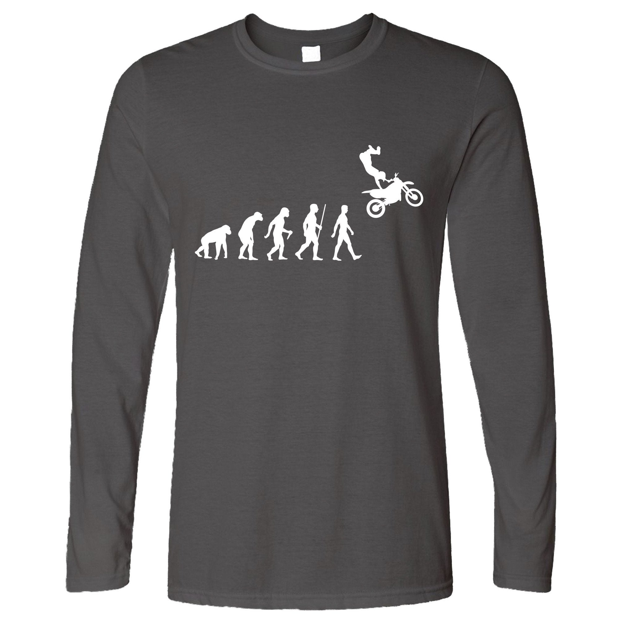 Sports Long Sleeve The Evolution Of Motocross Jumping T-Shirt