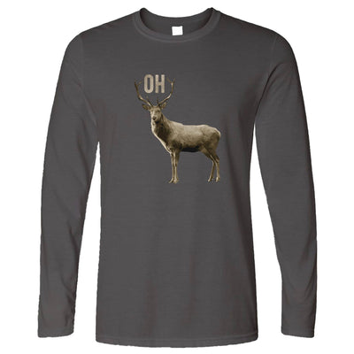 Buck Doe Long Sleeve Funny Oh Deer Pun Slogan T-Shirt