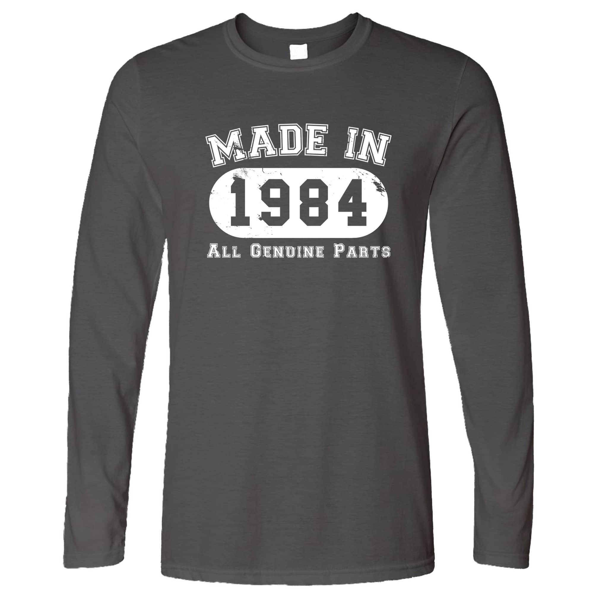 Birthday Long Sleeve Made in 1984 All Genuine Parts T-Shirt