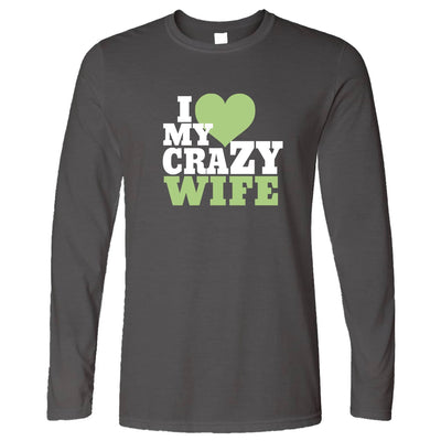 Fun Couples Long Sleeve I Love My Crazy Wife T-Shirt