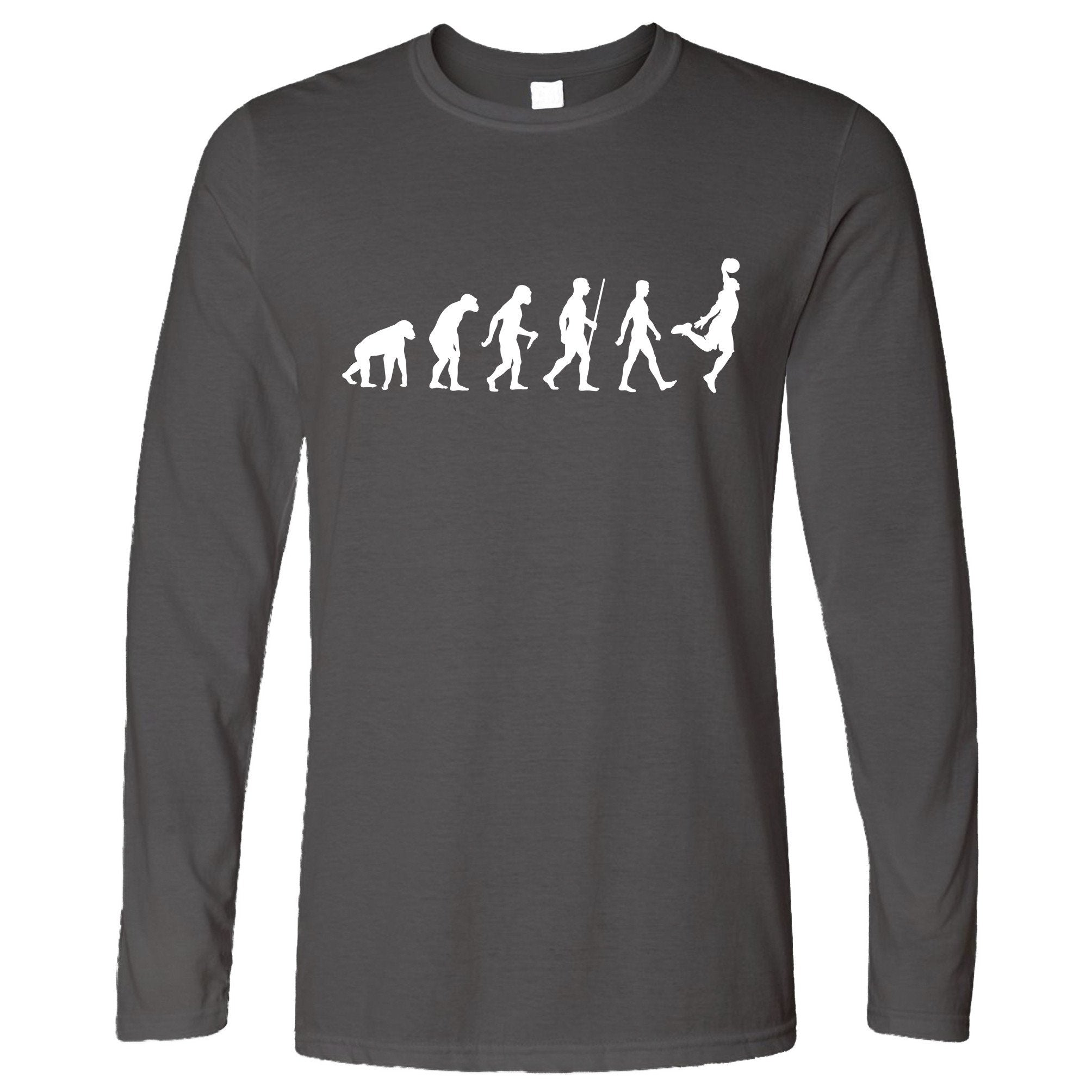 Sports Long Sleeve Evolution Of A Basketball Player T-Shirt
