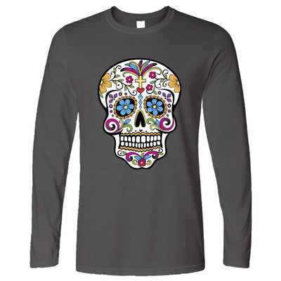 Day Of The Dead Long Sleeve Mexican Sugar Skull T-Shirt