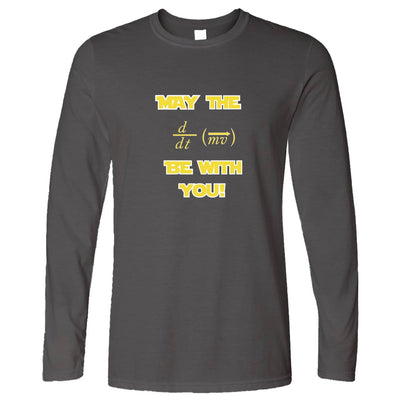 Funny Nerd Long Sleeve May The Force Be With You Pun