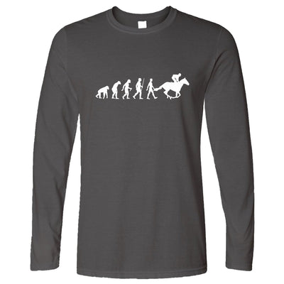 Sport Long Sleeve Evolution Of Horse Riding Equestrian T-Shirt