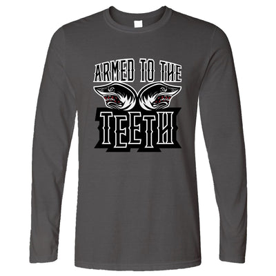 Sharks Long Sleeve Armed To The Teeth Weapon Expert T-Shirt