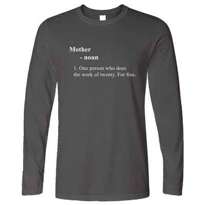 Mother's Day Long Sleeve Novelty Dictionary Definition T-Shirt