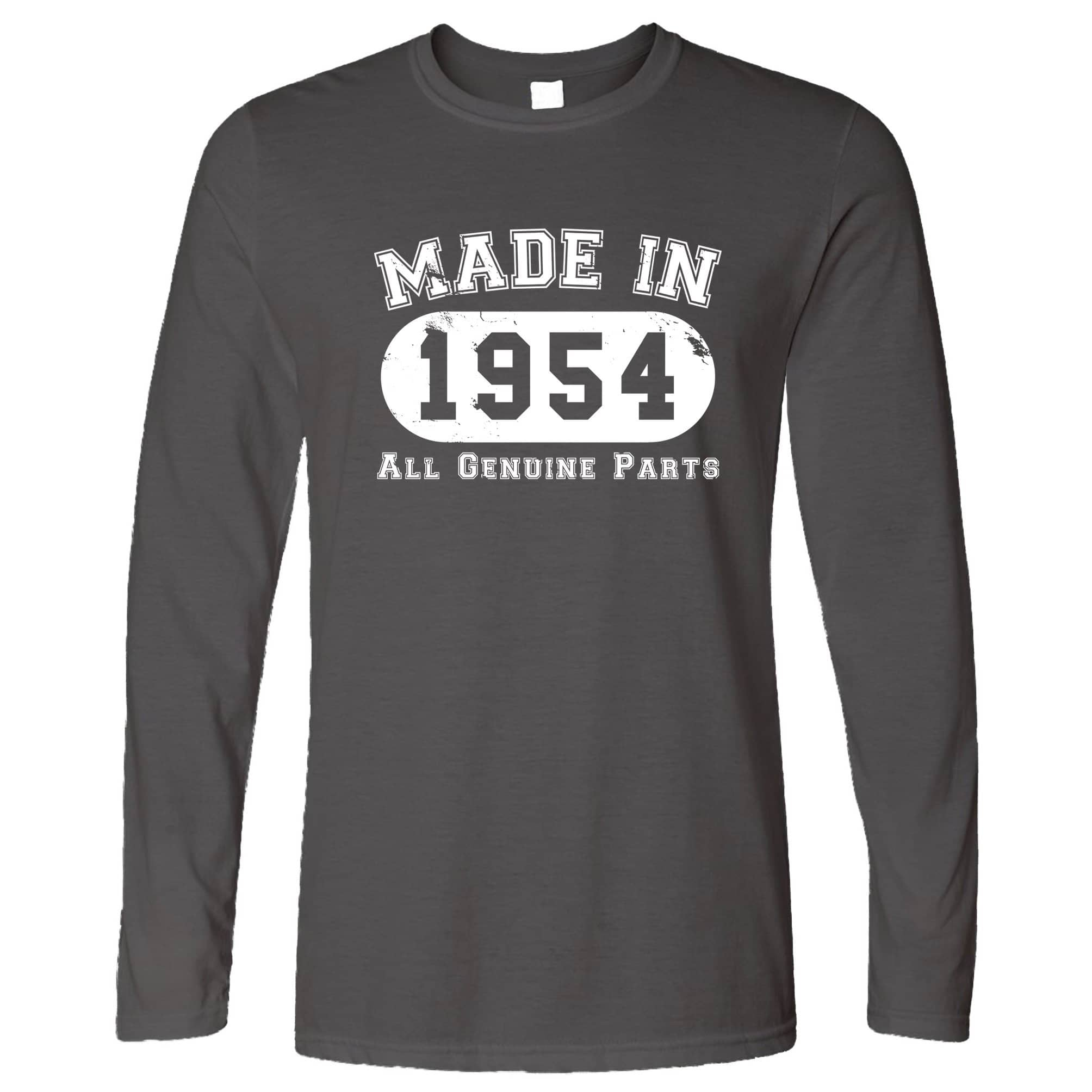 Birthday Long Sleeve Made in 1954 All Genuine Parts T-Shirt