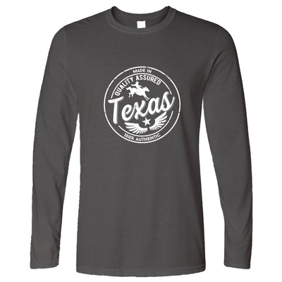 Hometown Pride Long Sleeve Made in Texas Stamp T-Shirt
