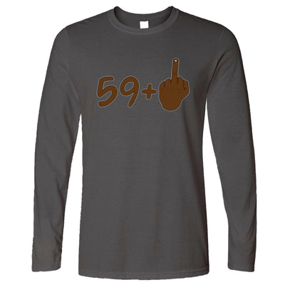 Rude 60th Birthday Long Sleeve Black Middle Finger T-Shirt