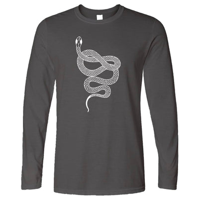 Animal Art Long Sleeve Illustrated Snake Tattoo Graphic T-Shirt
