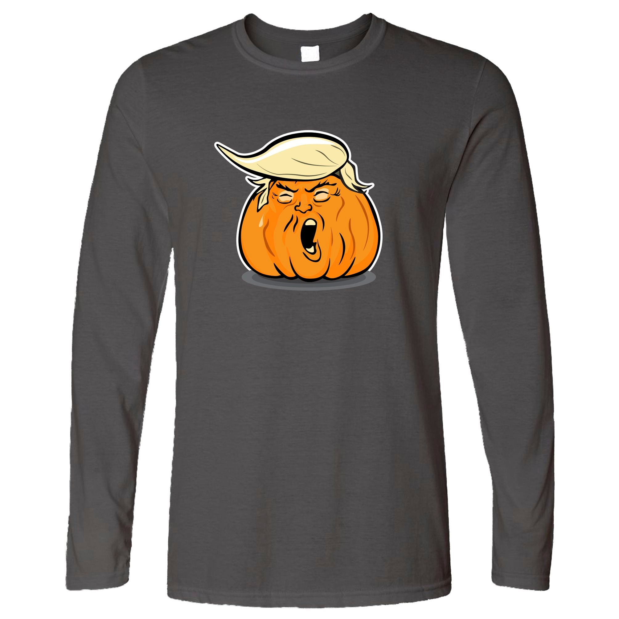 Donald Trump Long Sleeve Haloween Trumpkin Joke T-Shirt