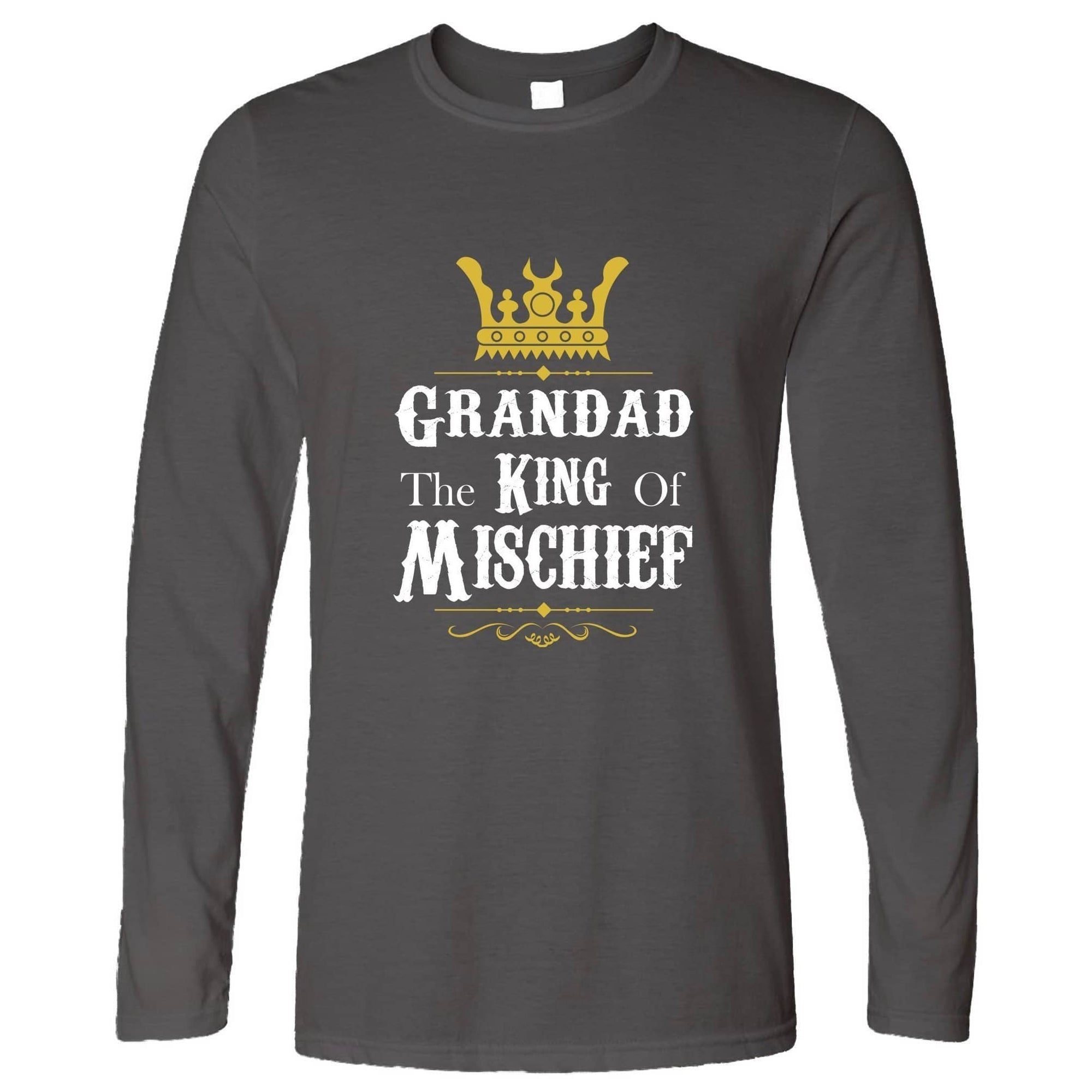 Father's Day Long Sleeve Grandad, The King Of Mischief T-Shirt