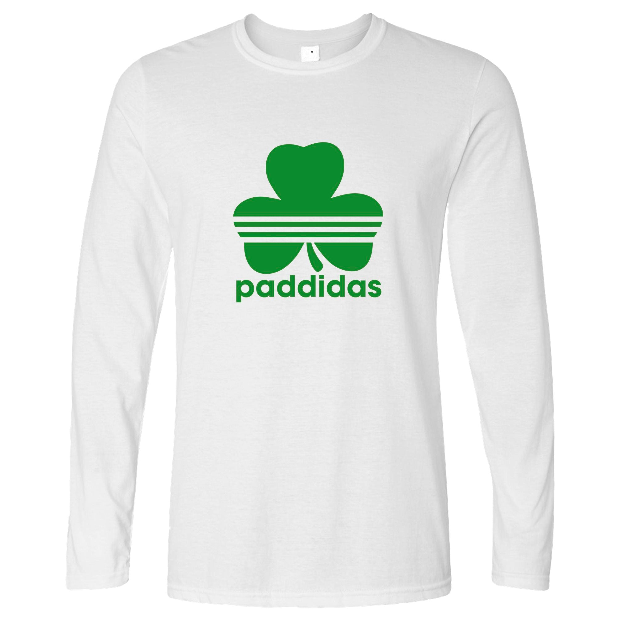 St Patricks Day Long Sleeve Paddidas Paddy Irish Sport T-Shirt