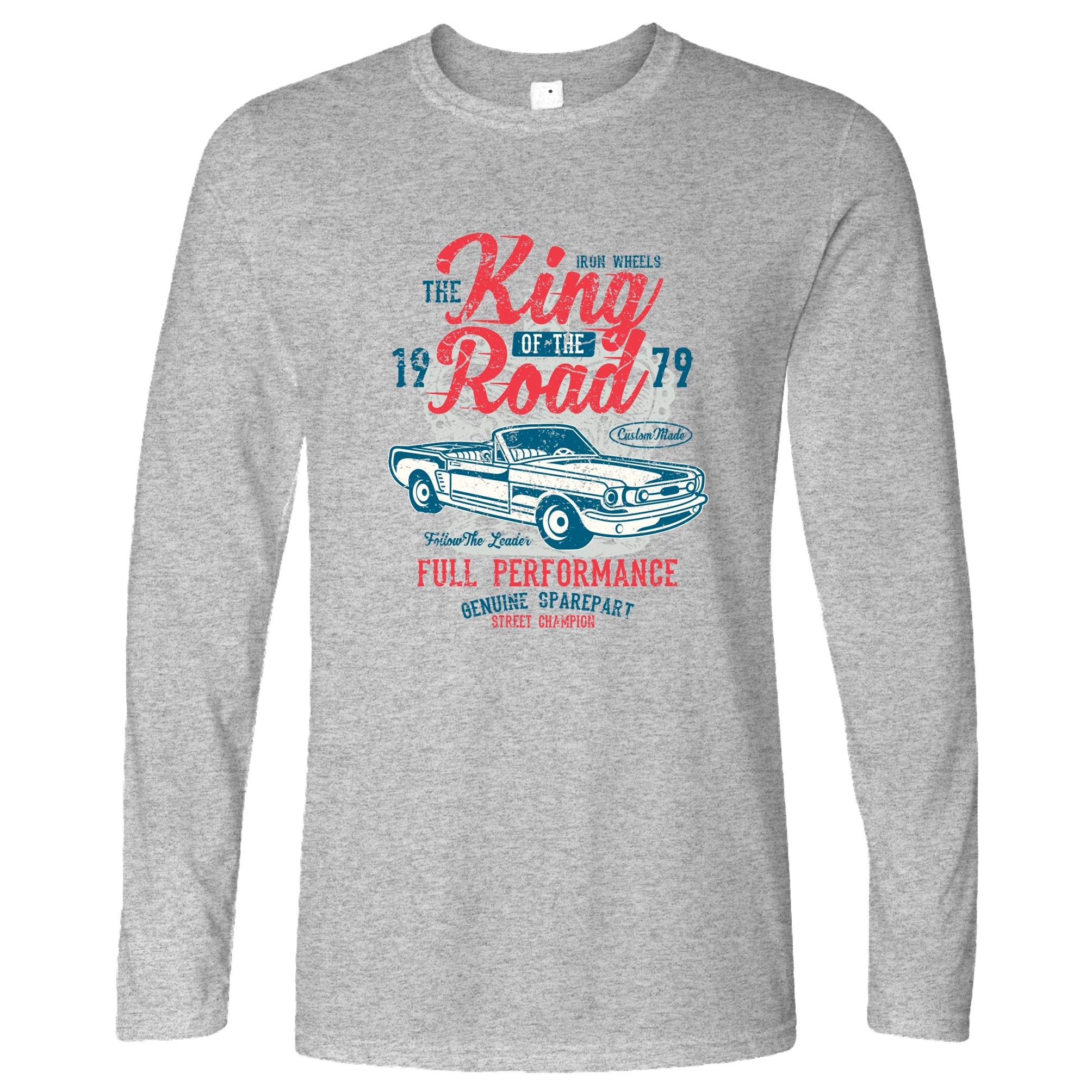 Retro Car Long Sleeve King Of The Road 1979 Racing Art T-Shirt
