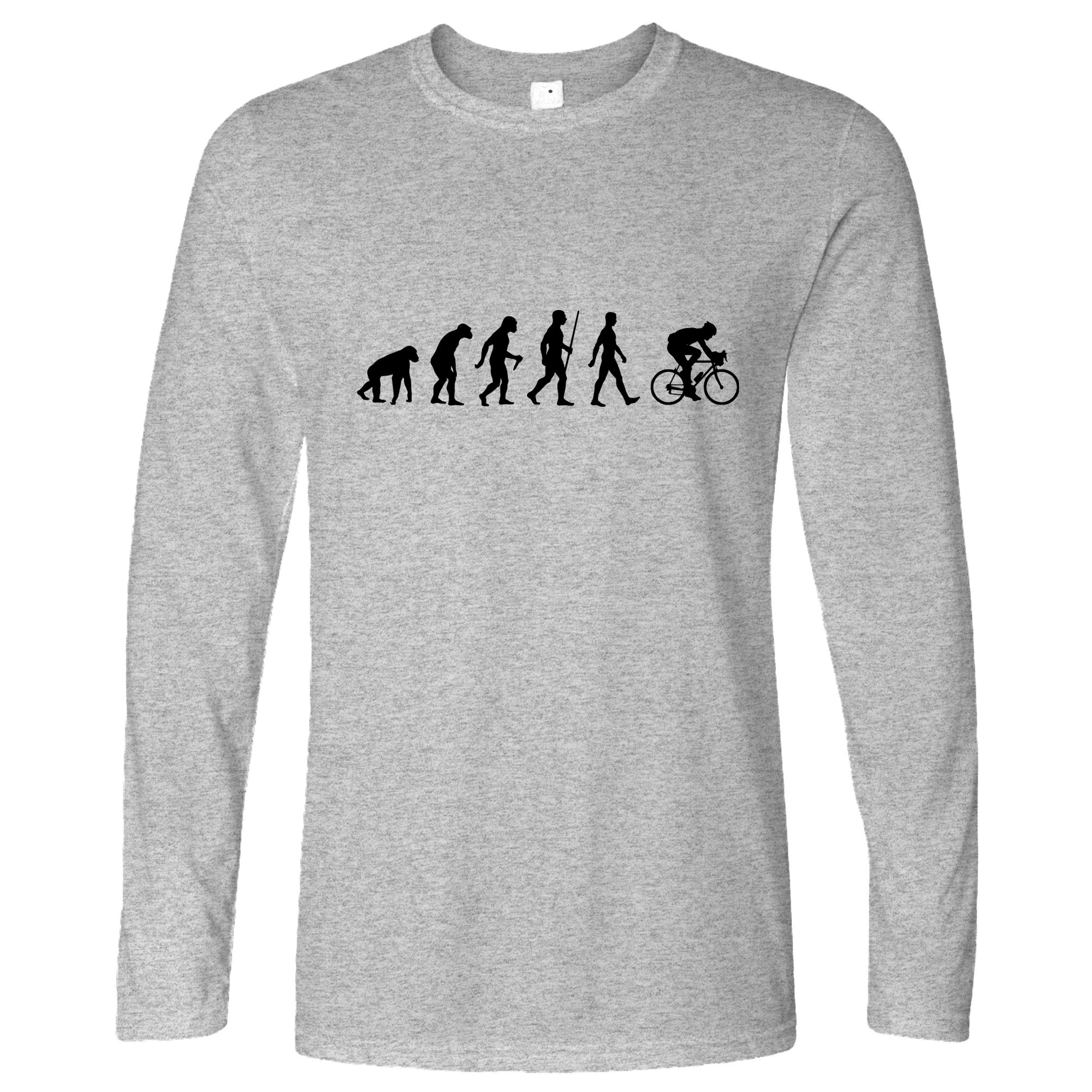 Novelty Long Sleeve The Evolution of Cycling T-Shirt