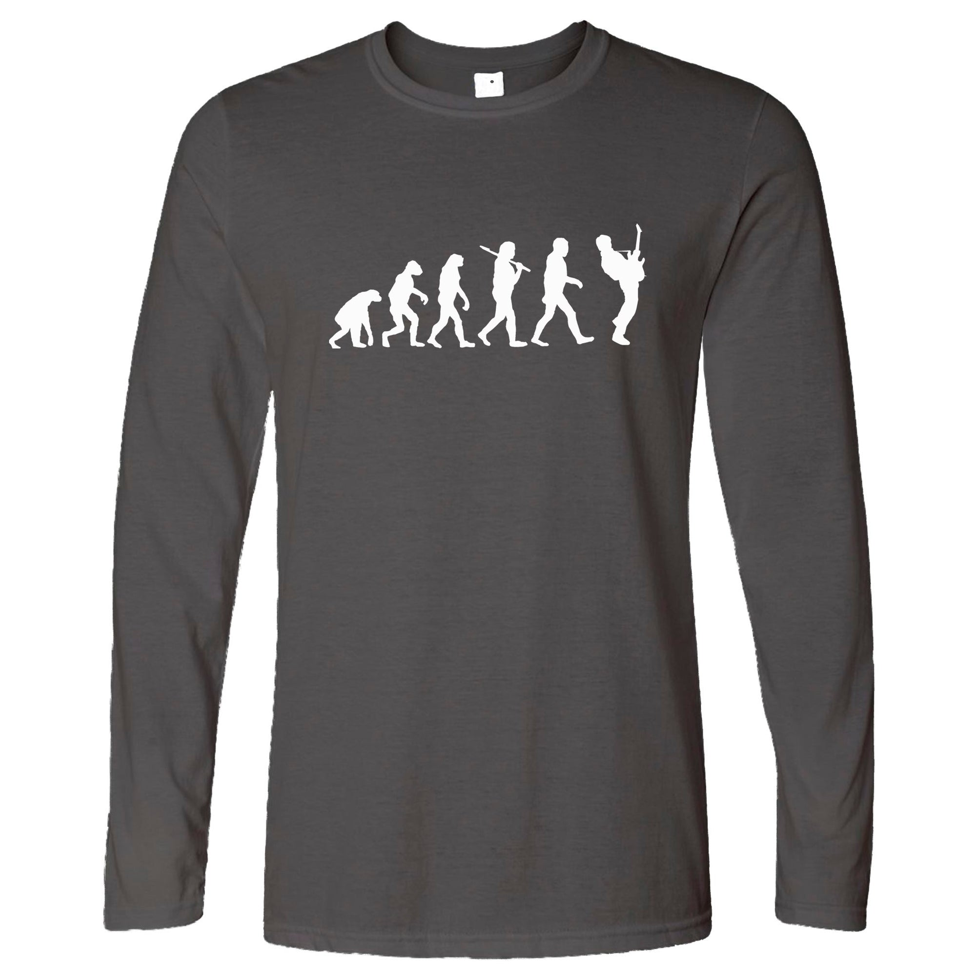 Musician Long Sleeve Evolution Of A Guitarist T-Shirt