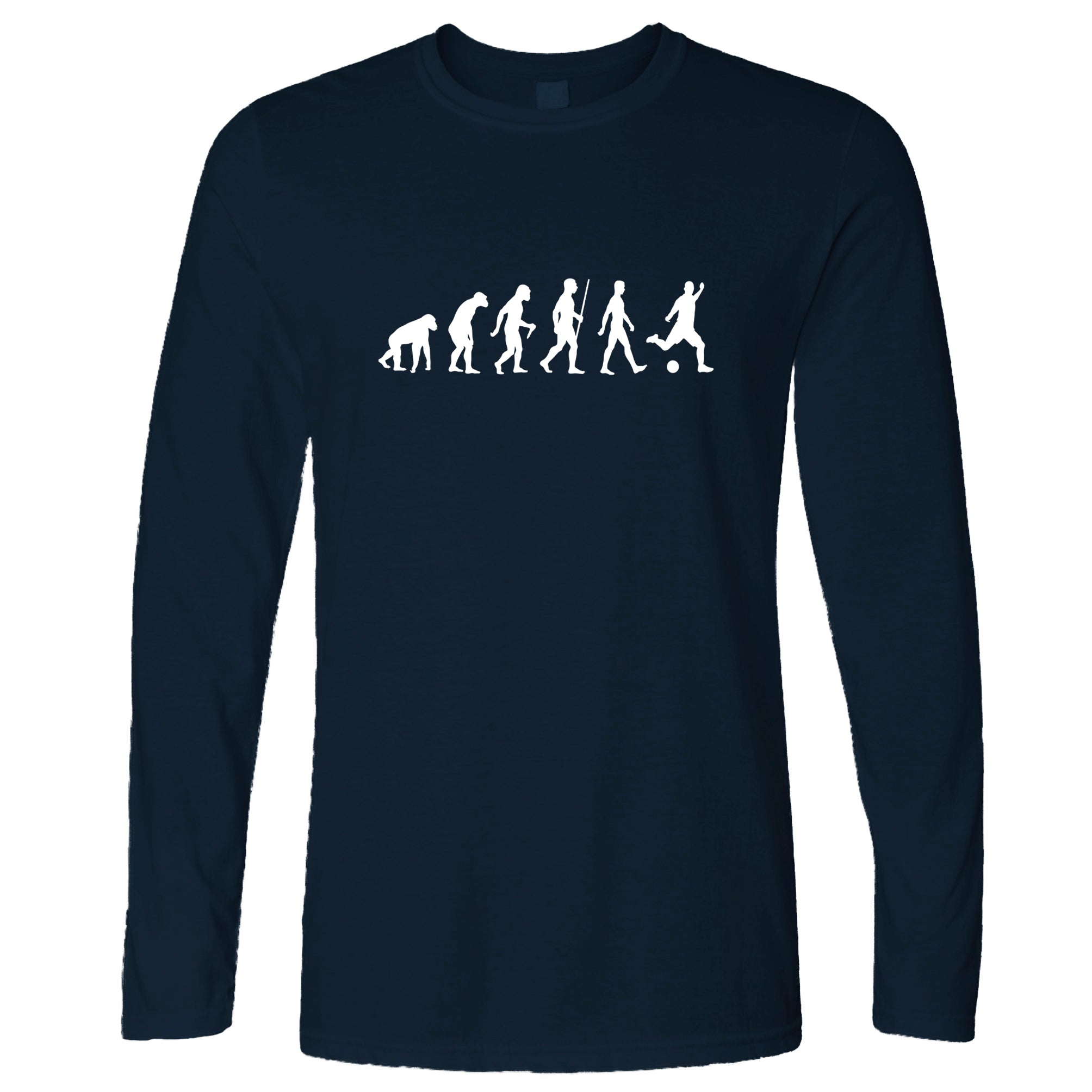 Football Fan Long Sleeve The Evolution Of A Footballer T-Shirt