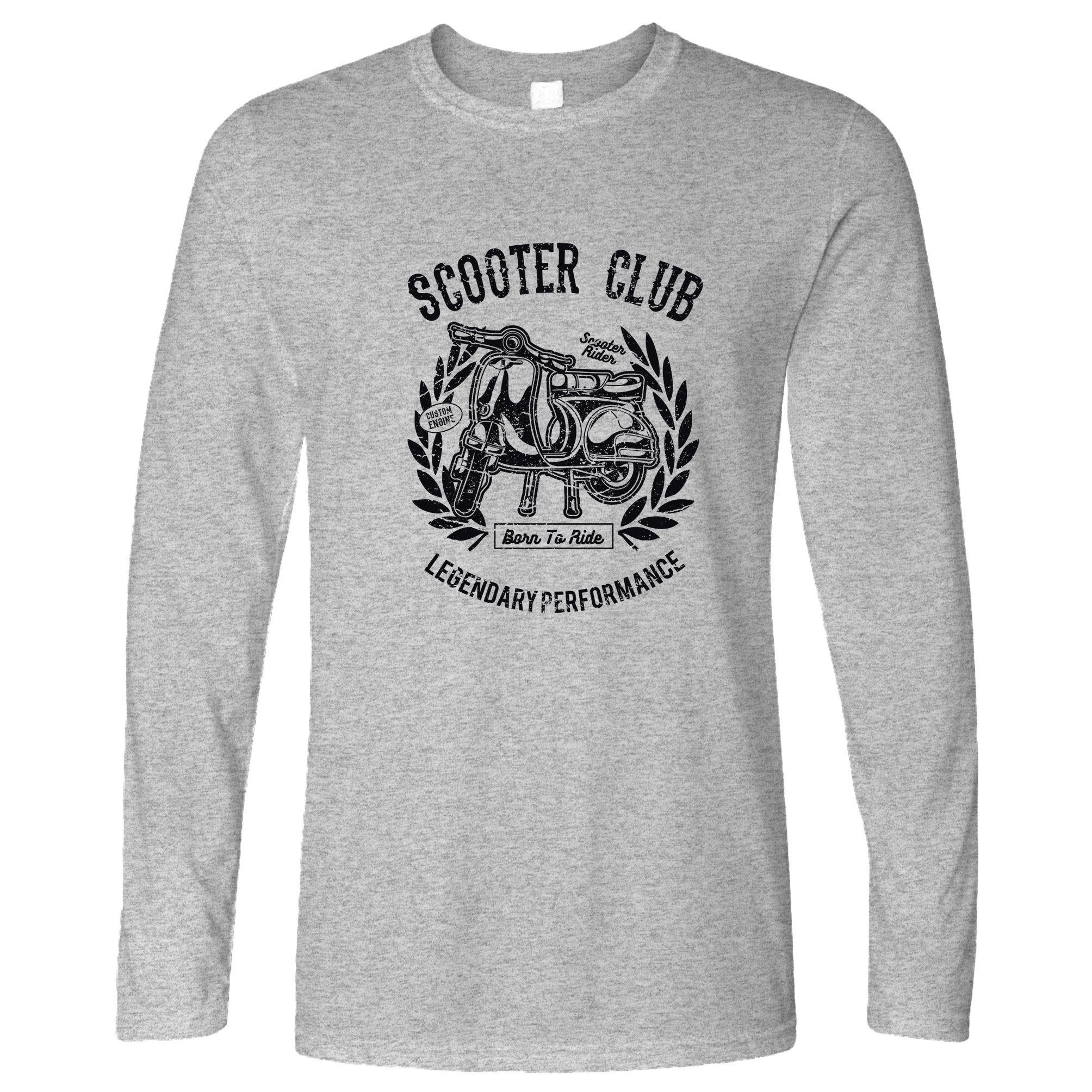 Motorbike Long Sleeve Scooter Club Legendary Performance T-Shirt