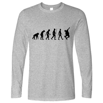 Sports Long Sleeve The Evolution Of A Skateboarder T-Shirt