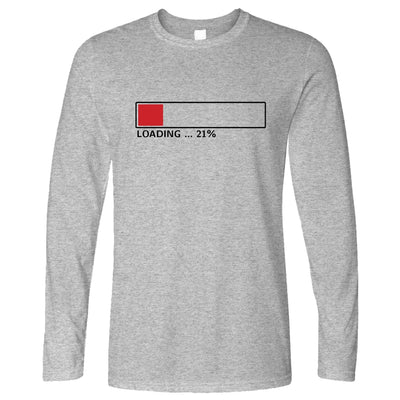 21st Birthday Long Sleeve Loading 21% Complete Twenty One T-Shirt