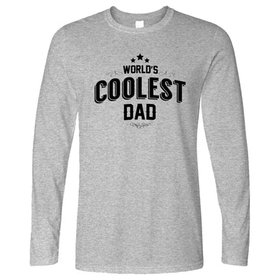 Novelty Long Sleeve Worlds Coolest Dad Slogan