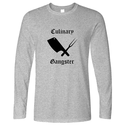 Cooking Long Sleeve Culinary Gangster Cuisine Logo T-Shirt