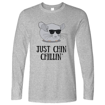 Novelty Long Sleeve Just Chin Chilling Sunglasses T-Shirt