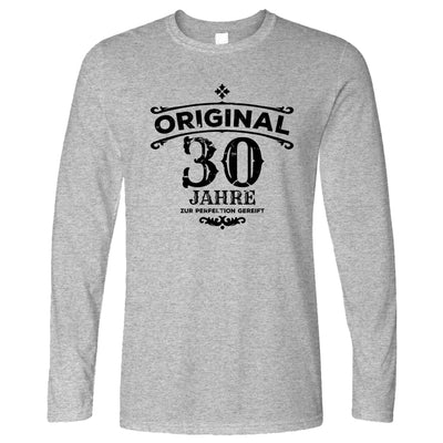30th Birthday Long Sleeve Original Aged 30 Thirty Years T-Shirt