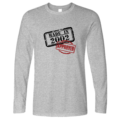 18th Birthday Long Sleeve Distressed Made in 2002 Approved T-Shirt