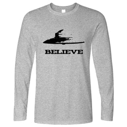 Alien Long Sleeve Believe in UFO Flying Saucers