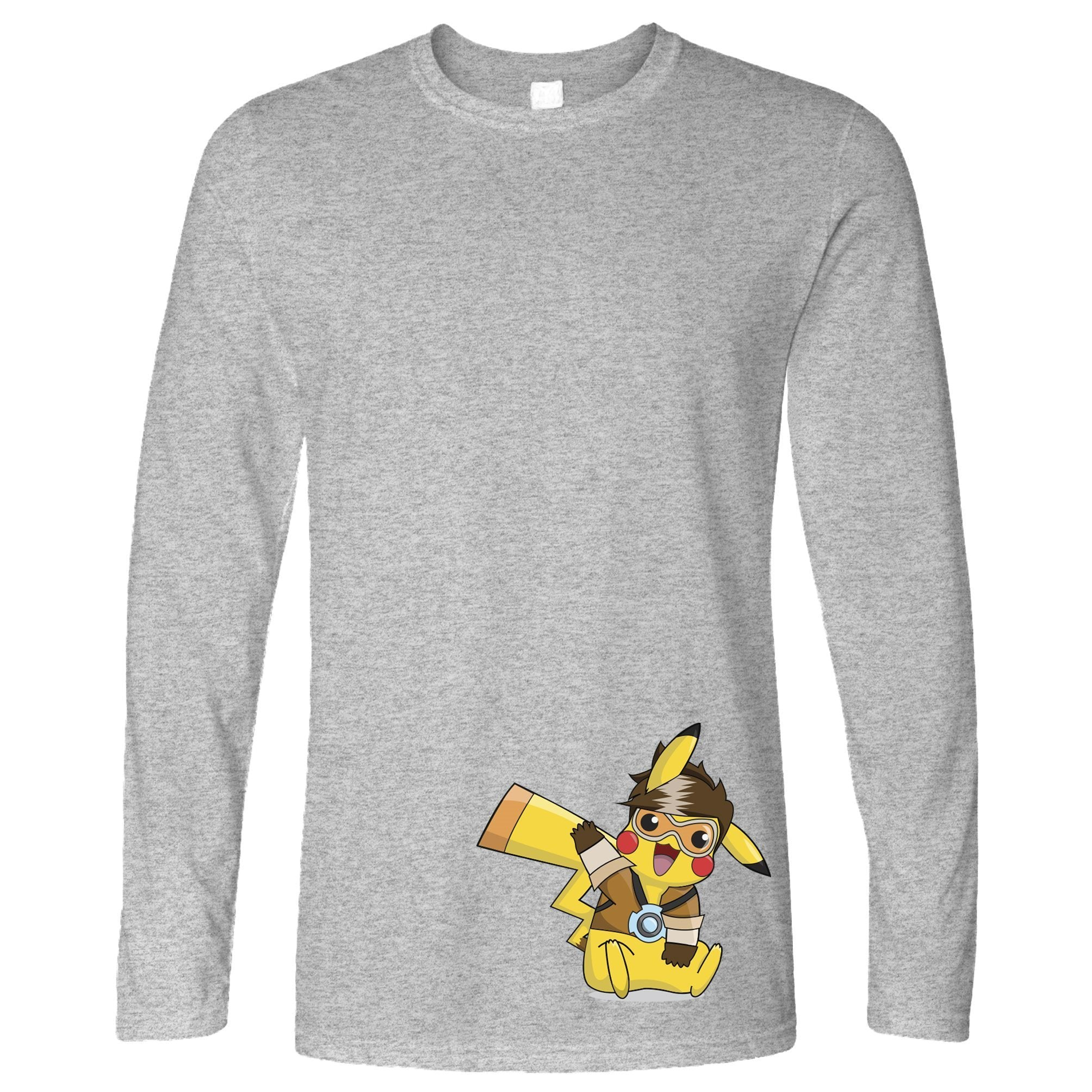 Gaming Parody Long Sleeve Yellow Lightning Mouse Cosplay T-Shirt