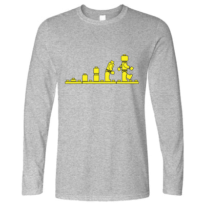 Bricks Evolution Retro Long Sleeve Novelty Toy T-Shirt