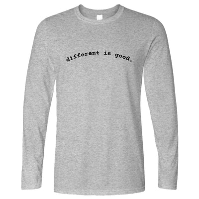 Novelty Slogan Long Sleeve Different Is Good T-Shirt