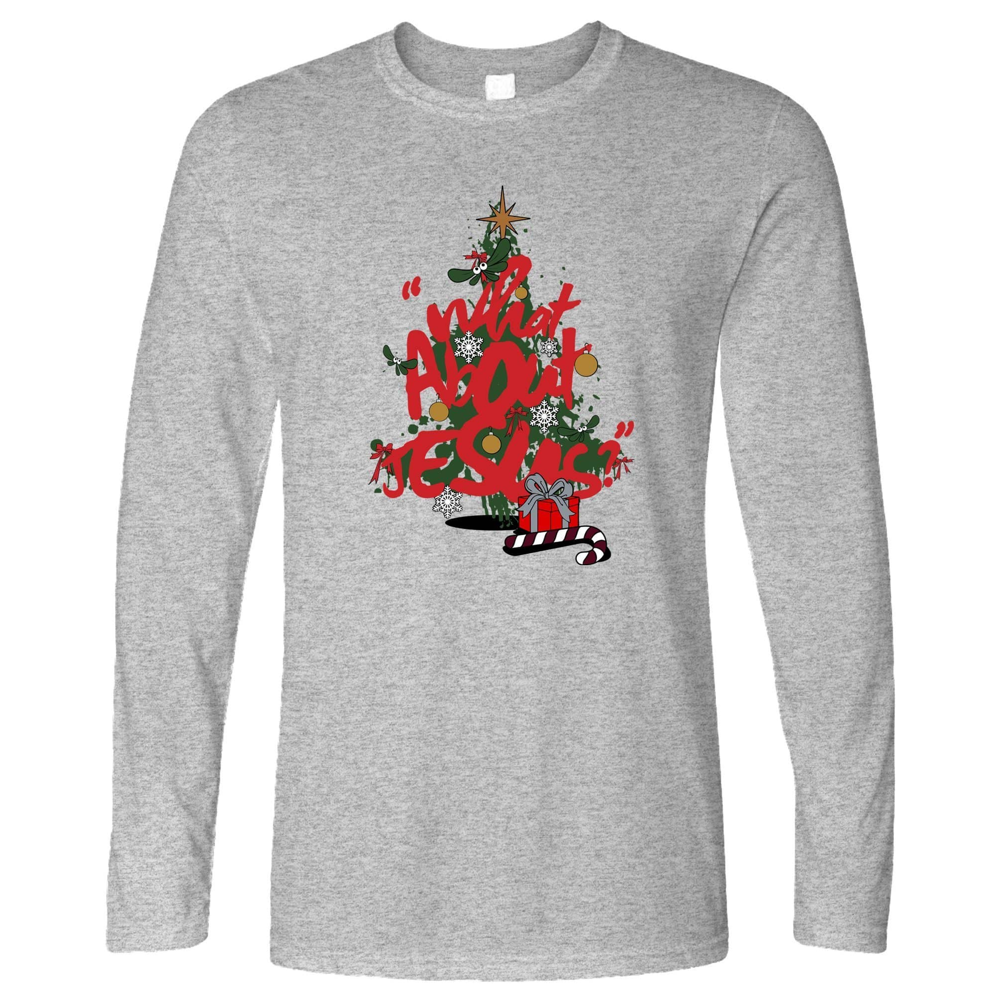 Christmas Long Sleeve What About Jesus Graffiti T-Shirt