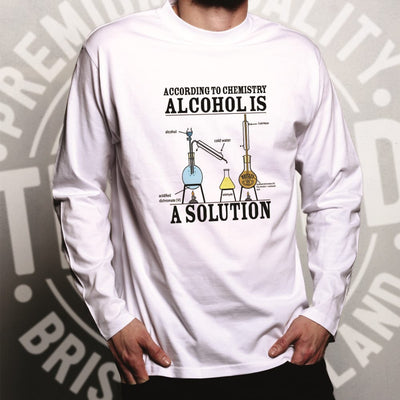 Pub Long Sleeve According To Chemistry Alcohols a Solution T-Shirt
