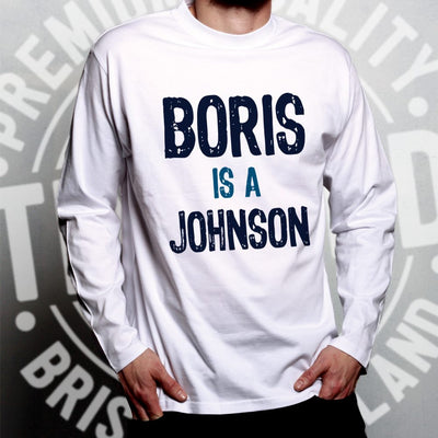 Boris Johnson Long Sleeve Political Prime Minister Opinion