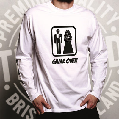 Game Over Novelty Long Sleeve Wedding Stag Do Hen Night T-Shirt