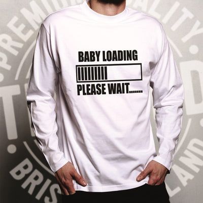 Novelty Long Sleeve Baby Loading Bar Please Wait T-Shirt