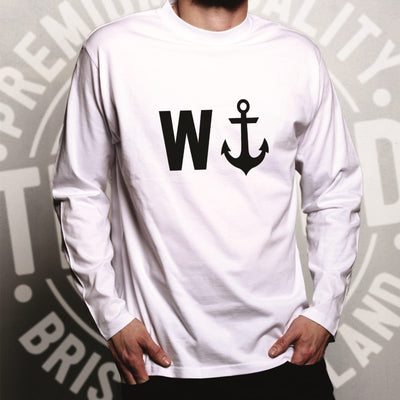 Rude Novelty Long Sleeve W And An Anchor T-Shirt