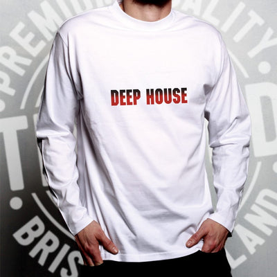 Music Genre Long Sleeve Deep House Parody Logo T-Shirt