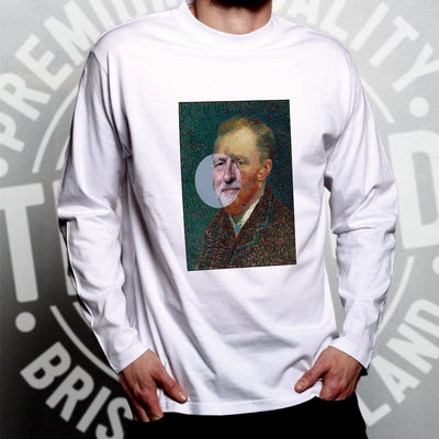 Political Long Sleeve Jeremy Corbyn Van Gogh Splice T-Shirt