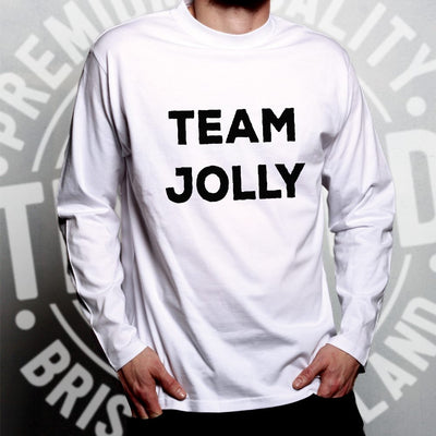 Novelty Christmas Long Sleeve Team Jolly Slogan T-Shirt