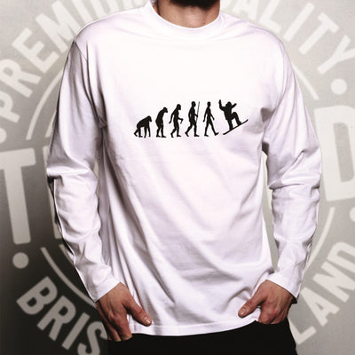Sports Long Sleeve The Evolution Of A Snowboarder T-Shirt