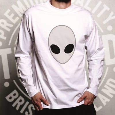 Alien Long Sleeve Nerdy Iconic Sci Fi Head Design T-Shirt