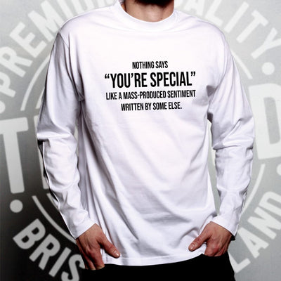 Valentines Day Long Sleeve You're Special Text