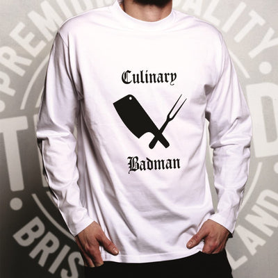 Cooking Long Sleeve Culinary Badman Cuisine Logo