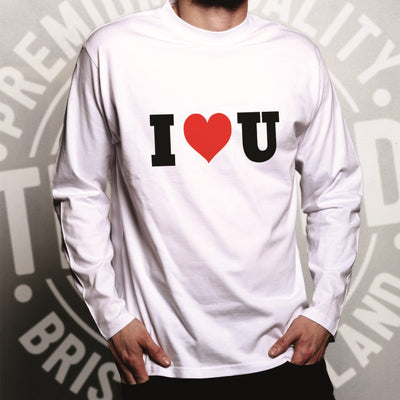 Valentine's Day Long Sleeve I Heart You U T-Shirt