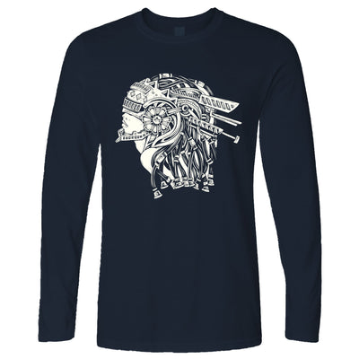 Sci-Fi Art Long Sleeve Futuristic Mechanical Woman T-Shirt