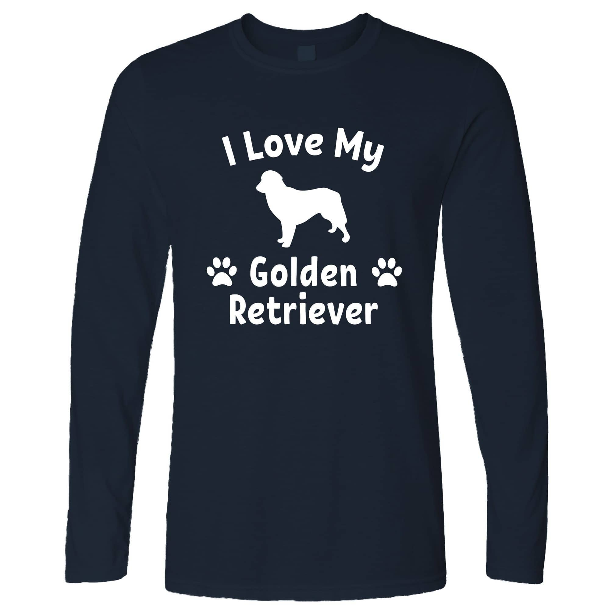 Dog Owner Long Sleeve I Love My Golden Retriever T-Shirt